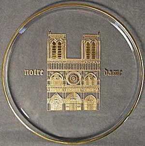 Orrefors Gold Notre Dame Plate (Image1)