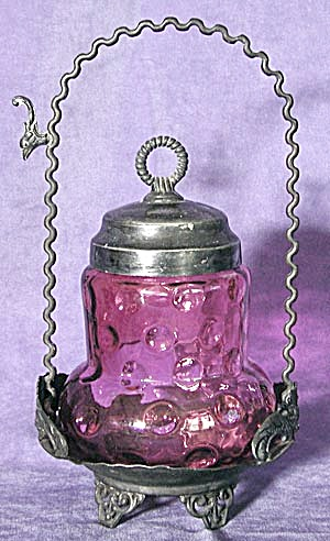 Victorian Cranberry Pickle Casstor