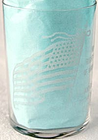 Vintage Water Glass with Etched Flag (Image1)