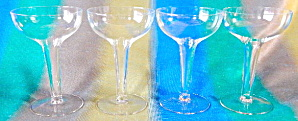 Vintage Hollow Stem Champagne Glasses Set Of 4