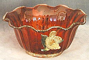 Vintage Red Venetian Flower Bowl
