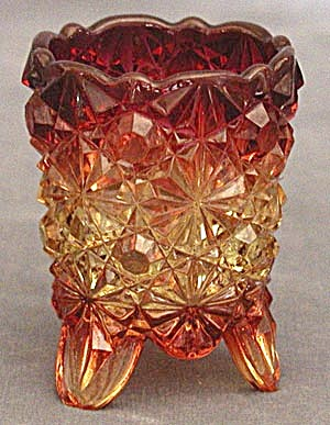 Vintage Amberina Toothpick Holder