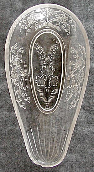 Antique Lily of the Valley Pattern Glass Relish Dish (Image1)