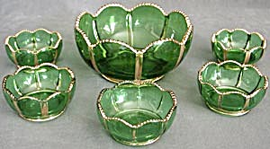 X-Ray Emerald Green Berry Bowl Set (Image1)