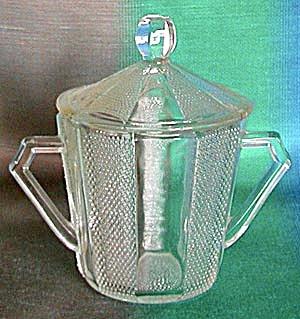 Vintage Paneled Dewdrop Sugar Bowl (Image1)
