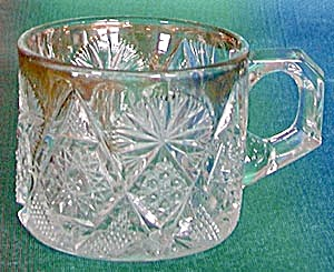 Vintage Child's Pressed Glass Mug (Image1)
