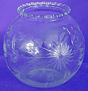 Vintage Cut Glass Ivy Vase