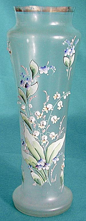 Antique Hand Painted Enamel Flower Vase (Image1)