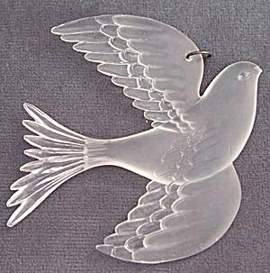 Hallmark Acrylic Dove Christmas Ornament (Image1)