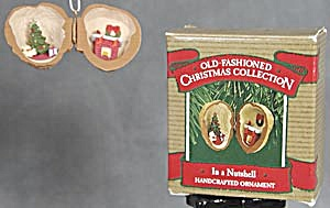 Hallmark 1987 In a Nutshell Christmas Ornament (Image1)