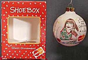 Hallmark Shoebox Glass Ball Mastercard Ornament (Image1)