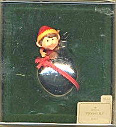 Vintage Hallmark Peeking Elf Ornament