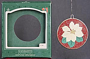 Grandparents Poinsettia Hallmark Ornament (Image1)