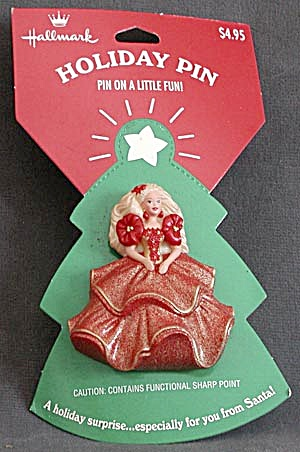Hallmark 1995 Holiday Barbie Pin (Image1)