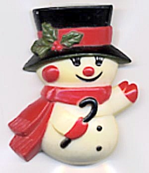 Hallmark Snowman with Cane Pin (Image1)