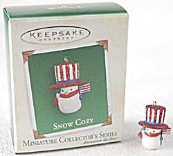Snow Cozy Hallmark Mini 2005 Snowman Santa (Image1)