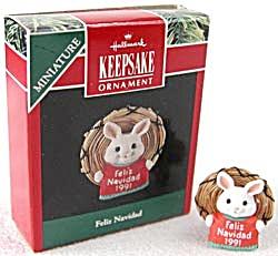 Feliz Navidad Hallmark Ornaments Mini 1991 Miniature (Image1)