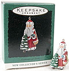 Centuries of Santa 1994 First Hallmark Mini Ornament (Image1)