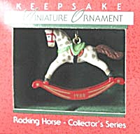 Hallmark Miniature Rocking Horse Christmas Ornament  (Image1)