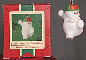 Snow Pitching Snowman Hallmark Christmas Ornament (Image1)