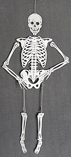 Halloween Large White Metal Skeleton (Image1)