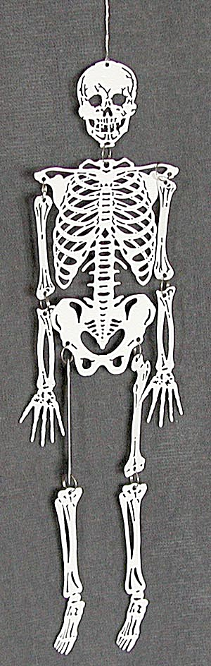 Halloween Small White Metal Skeleton (Image1)