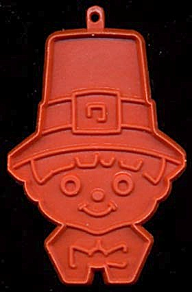 Vintage Hallmark Pilgrim Boy Head Cookie Cutter