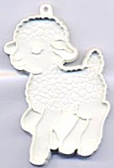 Vintage White Running Lamb Cookie Cutter (Image1)