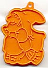 Hallmark Orange Witch On Broom Cookie Cutter (Image1)