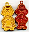 Hallmark Pilgrim Girl & Boy Mini Cookie Cutter