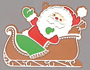 Painted Santa In Sleigh Cookie Cutter