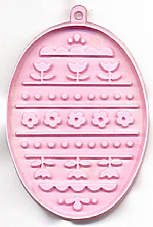 Hallmark Pink Easter Egg With Flowers Cookie Cutter (Image1)