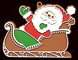 Hallmark Painted Santa in Sleigh Cookie Cutter (Image1)