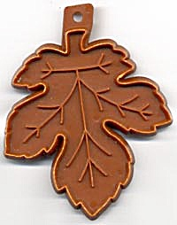 Vintage Hallmark Brown Leaf Cookie Cutter