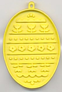 Hallmark Yellow Easter Egg With Flowers Cookie Cutter (Image1)