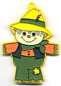 Vintage Hallmark Painted Scarecrow Cookie Cutter