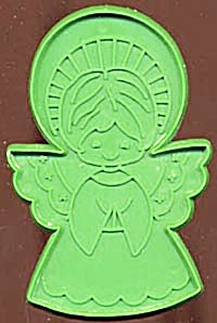 Vintage Hallmark Green Angel with Halo Cookie Cutter (Image1)