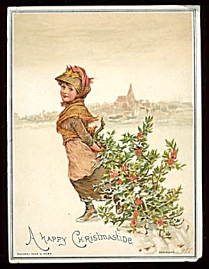 Vintage Christmas Cards Tuck (Image1)