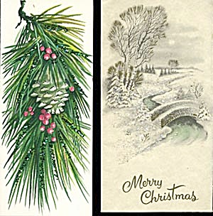 Vintage Glittered Christmas Cards (Image1)