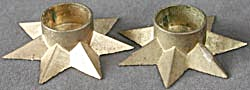 Vintage Metal Star Candle Holders (Image1)