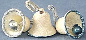 Vintage Plastic Glitter Bells Set of 3 (Image1)