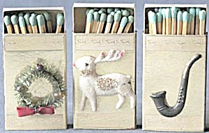 Vintage Christmas Match Box Set of 3 (Image1)