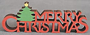 Vintage Merry Christmas Wooden Sign