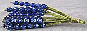 Vintage Cobalt Mercury Glass Beads