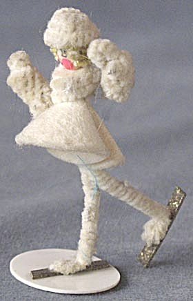 Vintage Pipe Cleaner & Celluloid Skater (Image1)
