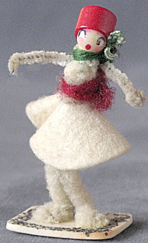 Vintage Pipe Cleaner & Celluloid Girl  (Image1)