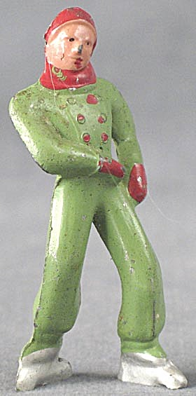 Vintage Green Lead Man Skater