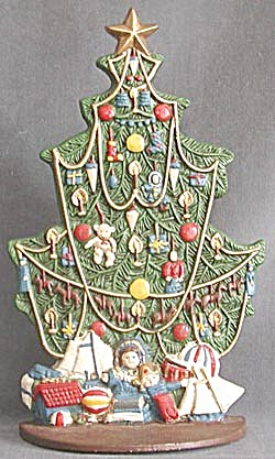Vintage Metal Christmas Tree Doorstop