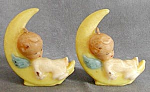 Vintage Gurley Pair Angel Candles (Image1)