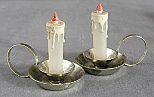 Vintage Candle Holder Salt & Pepper Shakers (Image1)